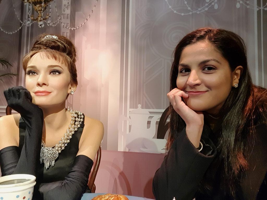 Audrey Hepburn and I - Madame Tussaud's in San Francisco